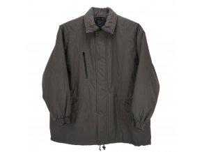 Pánská zimní bunda dlouhá tmavě šedá H