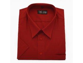 Pánská nadměrná košile červená hladká K 1