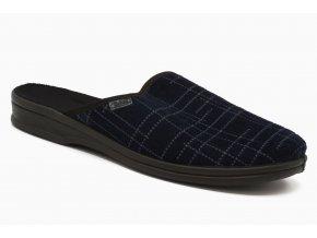Pánské pantofle modré s linkou 1