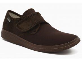 Diabetická obuv čokoláda suchý zip 1