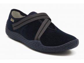 Diabetická obuv modrá s páskem 1