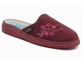 Dámské diabetické pantofle s výšivkou růžové 1