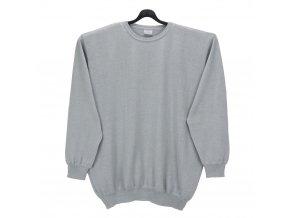 Pánský hladký šedý svetr U