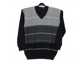 Pánský šedý svetr kombi V