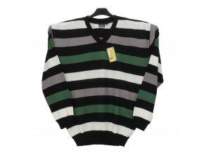 Pánský svetr zelené pruhy V
