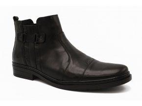Pánská nadměrná kotníková obuv černá 1