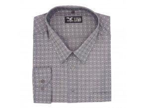 Pánská nadměrná košile šedá dvě kostky D 1