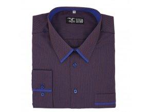 Pánská luxusní nadměrná košile stopa modrý lem D1 192103