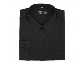 Pánská košile černá s černými šipkami D1 192220