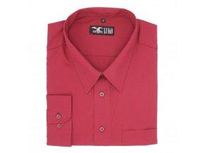 Pánská nadměrná košile bordo hladká D1