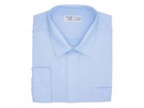 Luxusní pánská nadměrná košile světle modrá tečka D1