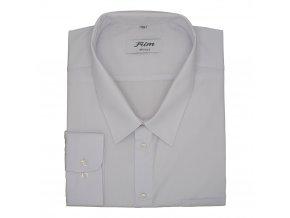 Pánská nadměrná košile bílá hladká bavlna D