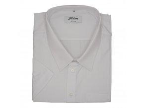 Pánská nadměrná košile bílá hladká K
