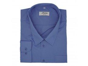 Pánská košile středně modrá 022237 D 1