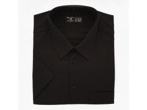 Pánská košile černá mini proužek K 154150 1