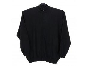 Pánský svetr černý dlouhý zip