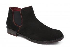 Dámská kotníková obuv s červeným lemem 1