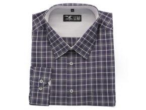 Pánská košile šedá káro 1