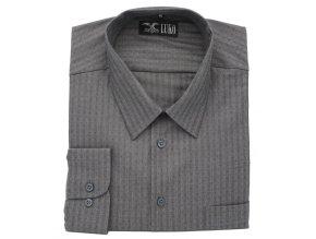 Pánská košile tmavě šedá D1