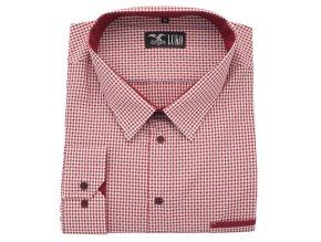 Pánská košile červeno bílá D1