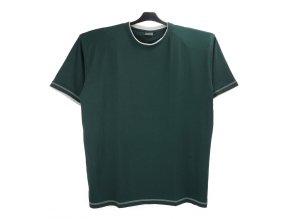 Pánské tričko zelené šedý lem