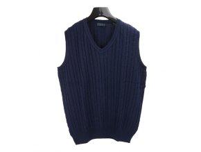 Pánská úplet vesta modrá copy