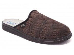 Pánská domácí obuv hnědá 1