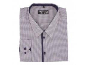 Košile bílomodrá kostička, modrý lem 1D