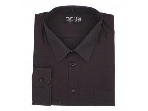 Košile černá s černým vzorem 1D