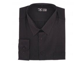 Košile černá s černým vzorem šipka lux 1D
