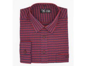 Košile červená s modrou kostkou 1D