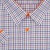 Pánská nadměrná košile oranž lem K2
