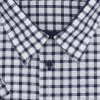 Pánská nadměrná košile modrá kostka K2