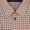 Pánská nadměrná košile oranžovo modrá káro D2 182216