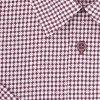 Pánská košile bílá s vínovou hvězdou K2