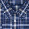 Pánská košile bavlna modrá velká kostka D2 192201