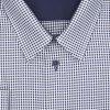 Pánská nadměrná košile modro bílá tečka D2