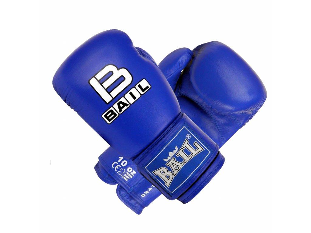 Boxerské rukavice z kůže Leopard Bail - modrá barva