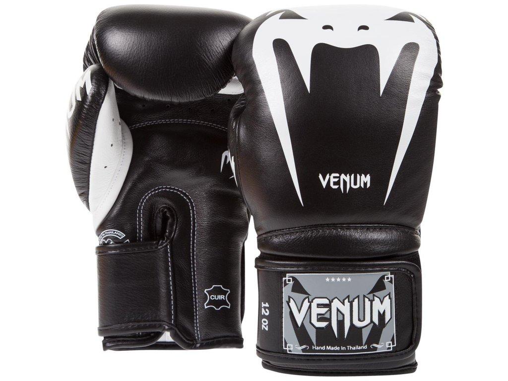 Boxerské rukavice Venum Giant 3.0  - černá barva/bílé logo