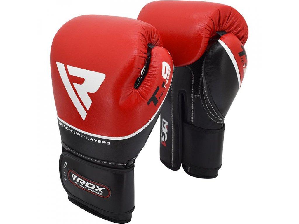 Boxerské rukavice RDX T9 ACE - červená barva