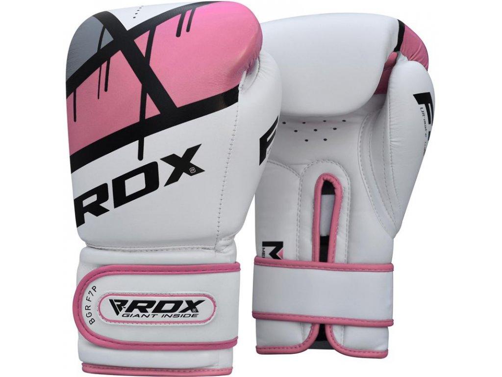 Boxerské rukavice RDX Ego F7 v růžové barvě