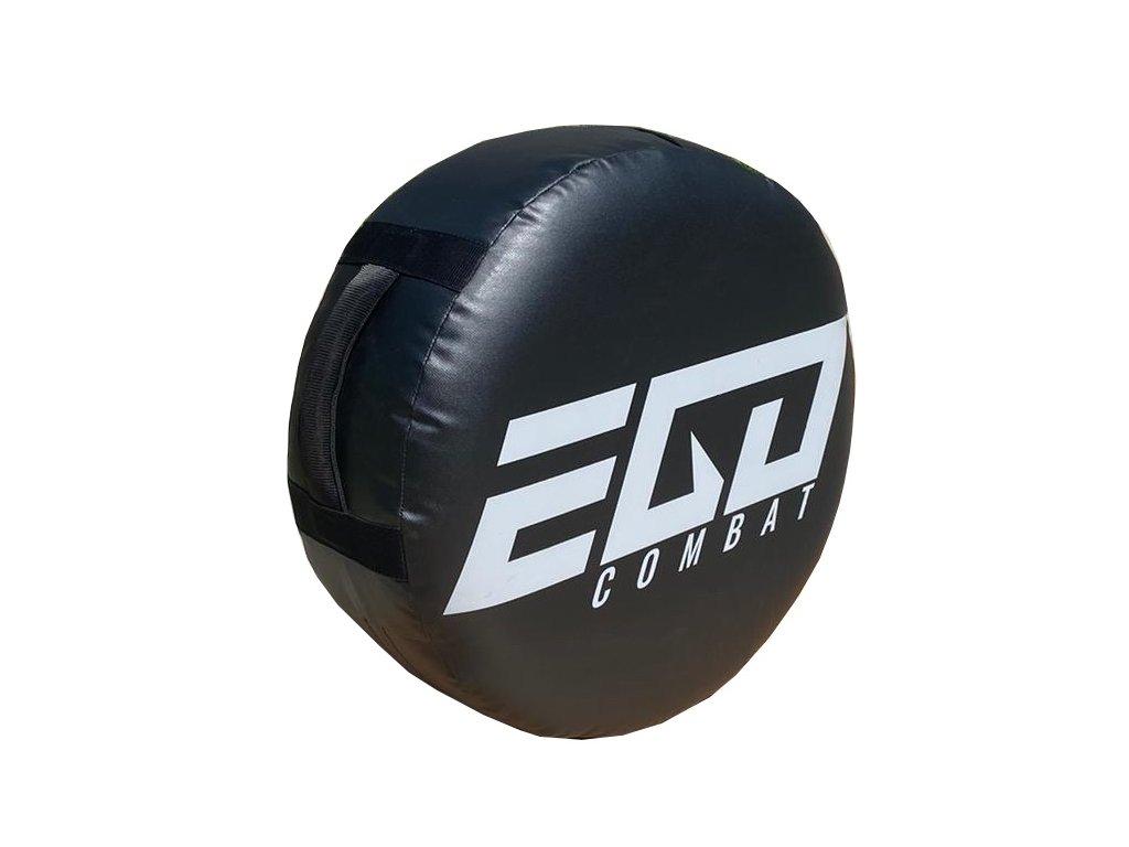 Velká kulatá lapa Energy  Ego Combat - černá barva, šedé logo.