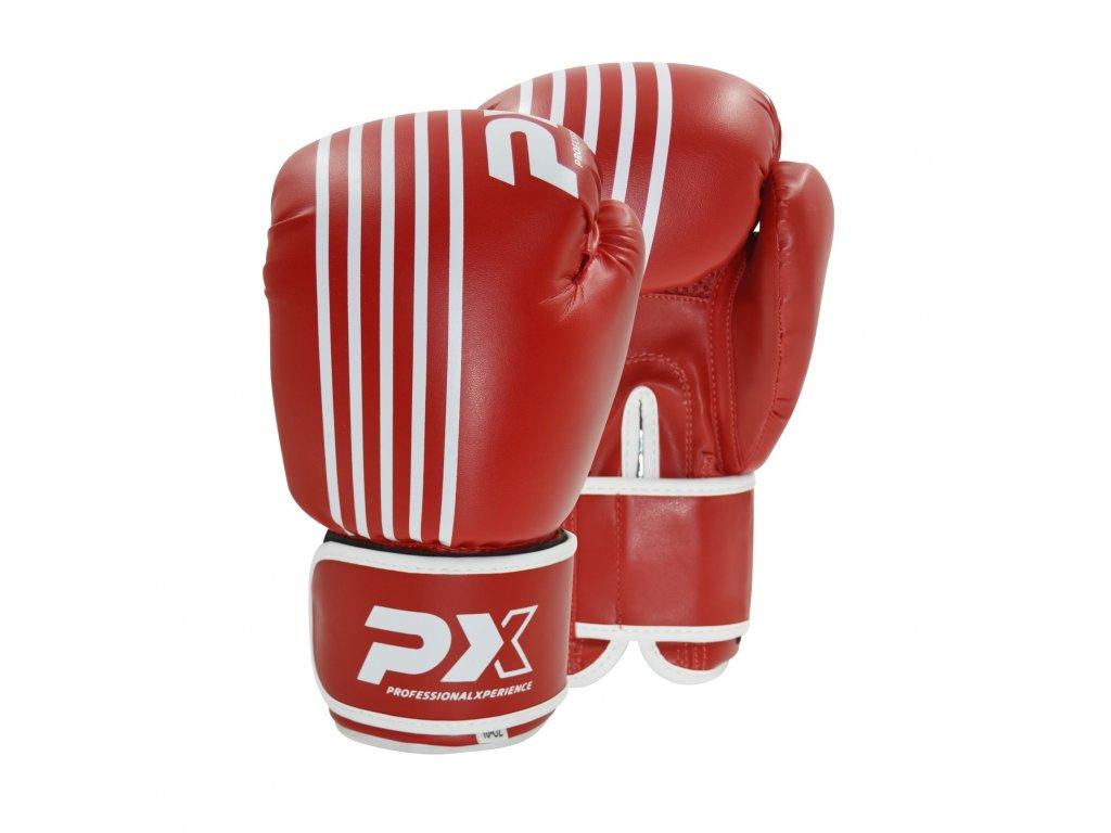 Boxerské rukavice Phoenix - červená/bílá barva