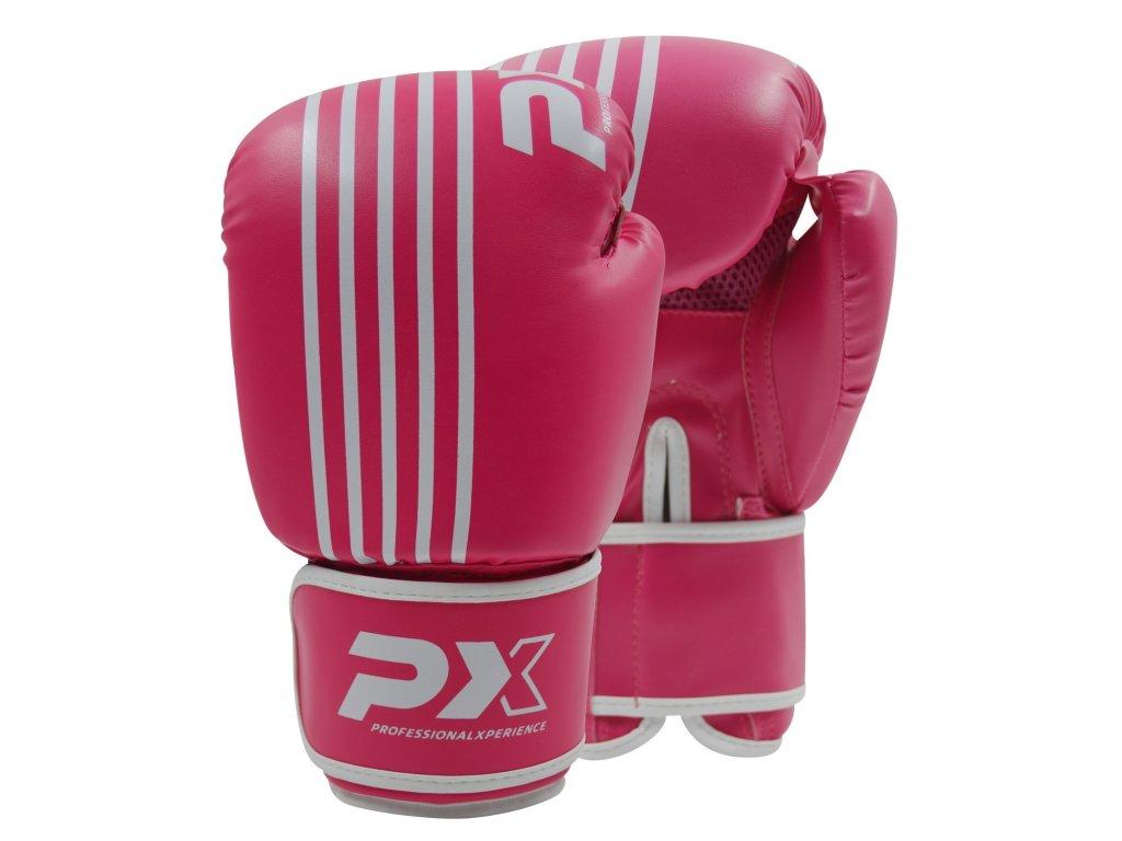 Boxerské rukavice Phoenix - růžová/bílá barva