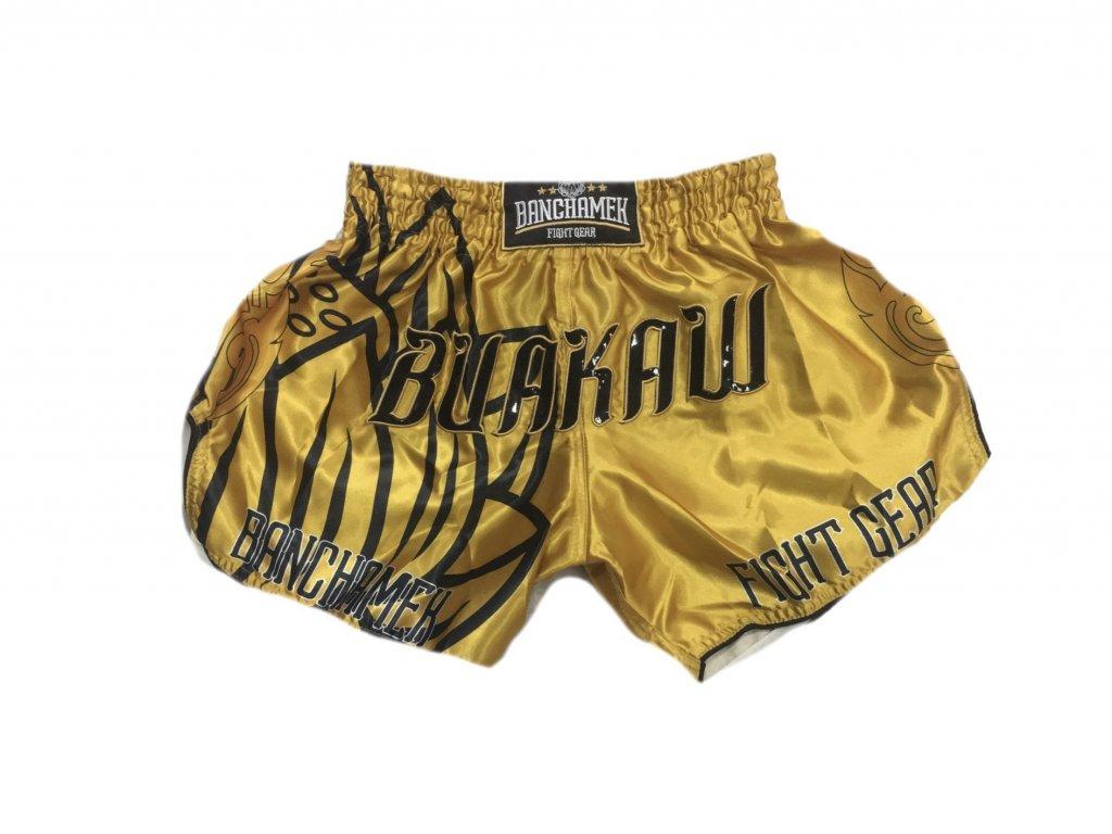 Thajské trenky Buakaw - zlatá barva