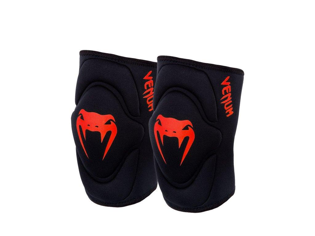 Venum chrániče kolen Kontact Gel - černá barva, červené logo