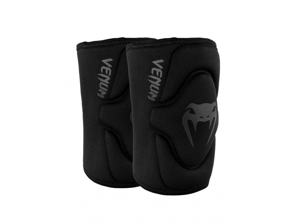 Venum chrániče kolen Kontact Gel - černá barva, šedé logo