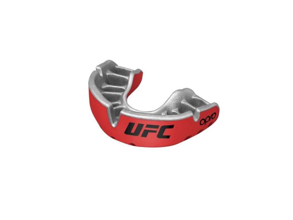 OPRO Gold UFC chrániče zubů - červená/stříbrná barva