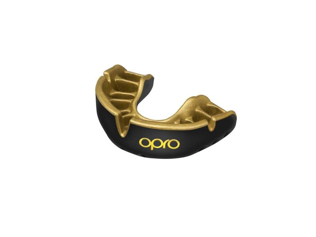 OPRO Gold JUNIOR chrániče zubů - černá/zlatá barva