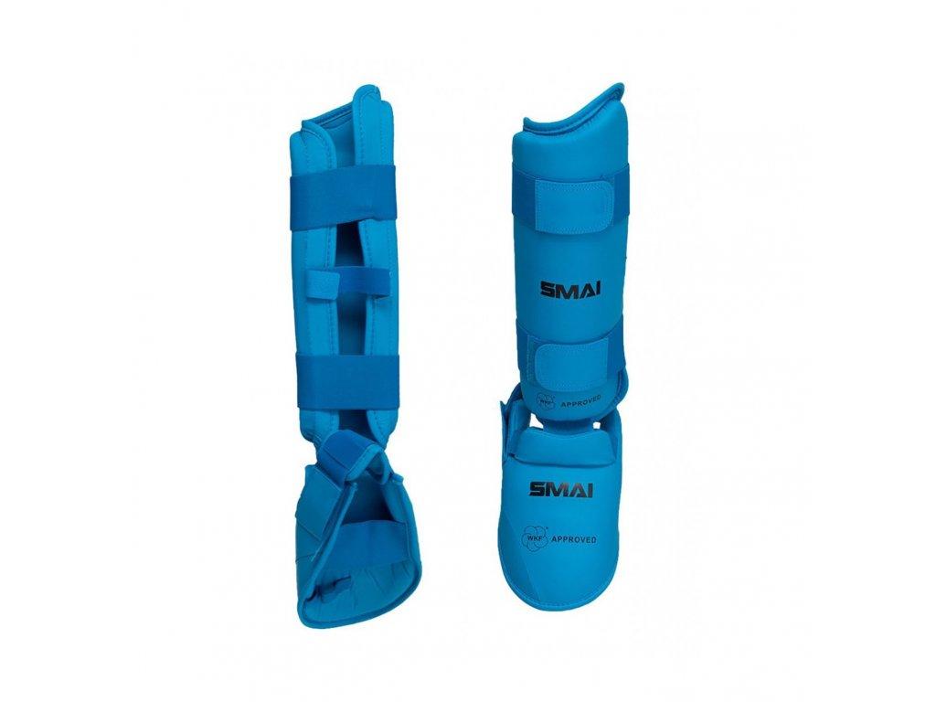 WKF chrániče holení a nártů SMAI - modrá barva